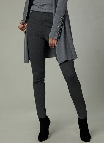 Kayla Ponte de Roma Leggings, Grey, hi-res