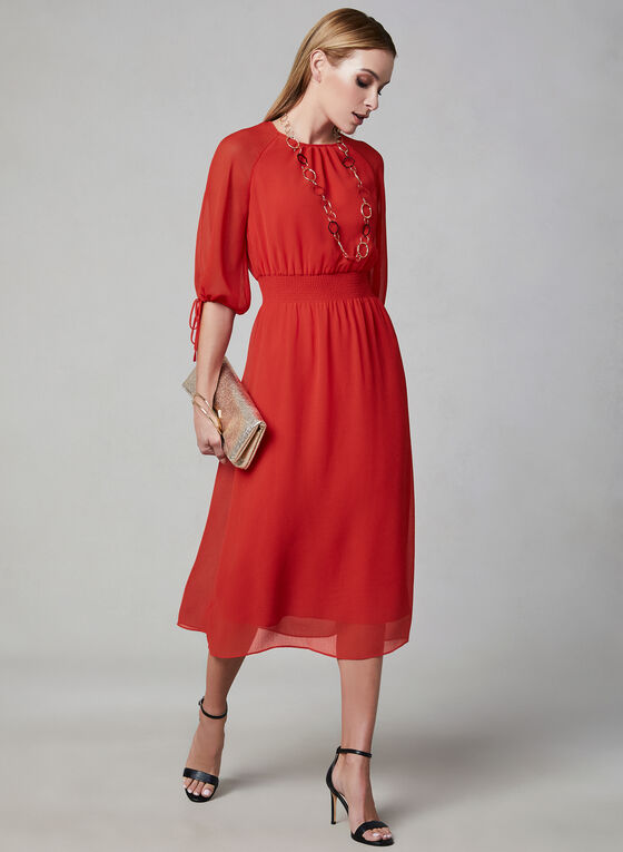 Maggy London - Balloon Sleeve Dress, Red, hi-res
