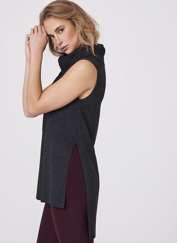Sleeveless Cowl Neck Knit Tunic, , hi-res