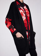 Cocoon Knit Cardigan, Black, hi-res