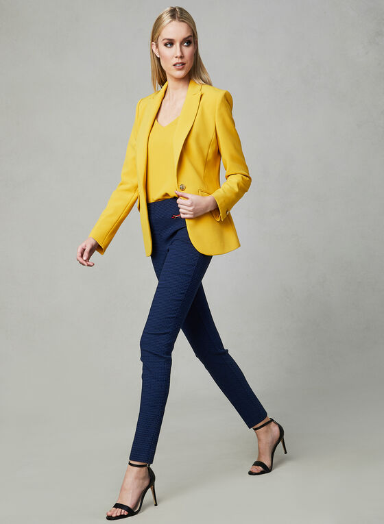 One Button Blazer, Yellow, hi-res