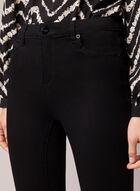 Jeans étroit en denim superdoux, Noir
