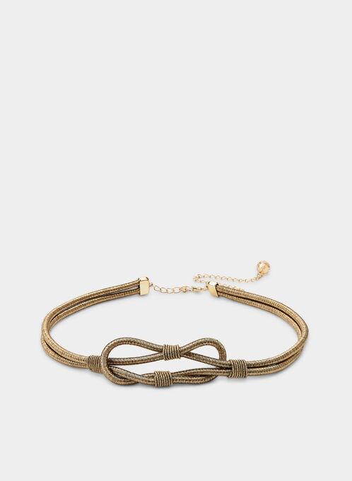 Metallic Cord Belt, Brown