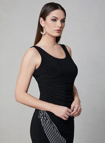 Joseph Ribkoff - Sleeveless Jersey Dress, Black, hi-res