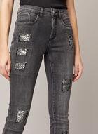 Joseph Ribkoff - Jeans à détails serpent et cristaux, Gris
