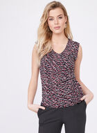 Sleeveless Jersey Top , Black, hi-res