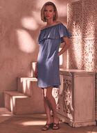 Ruffle Off The Shoulder Dress, Blue