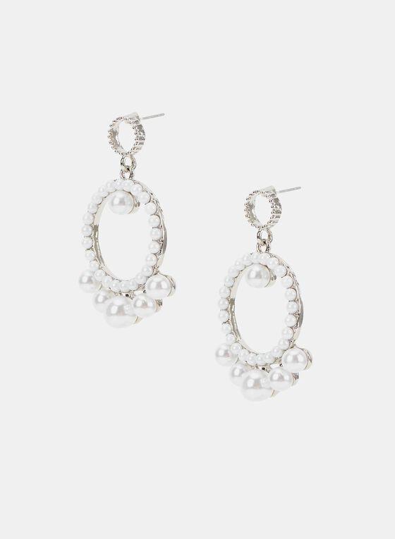 Pearl Dangle Earrings, Off White, hi-res