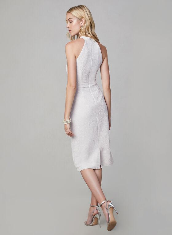 Maggy London - Robe texturée et pailletée, Blanc cassé