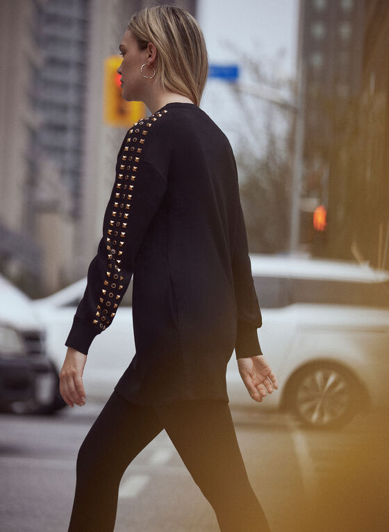 Stud Detail Tunic, Black