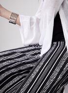 Dot Stripe Print Culottes, Black, hi-res