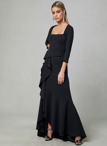 Adrianna Papell - ¾ Sleeve Dress, Black, hi-res