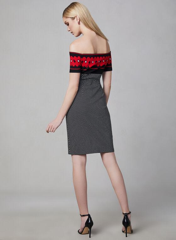 Frank Lyman - Off-the-Shoulder Dress, Black, hi-res