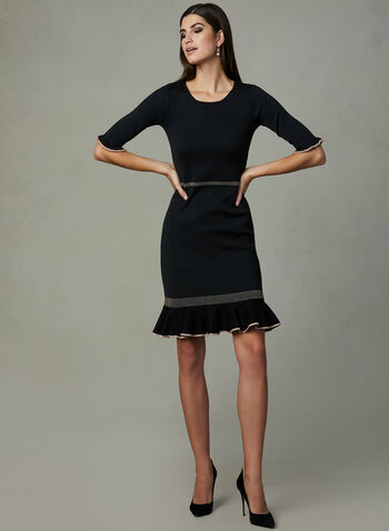 Taylor - Mermaid Ruffle Dress, Black, hi-res