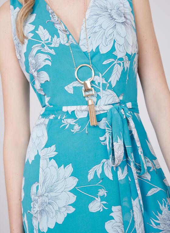 Sandra Darren - Robe maxi cache-cœur à fleurs, Bleu, hi-res