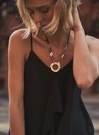 Ruffle Detail Camisole, Black