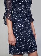 Karl Lagerfeld Paris - Robe à pois en mousseline, Bleu, hi-res