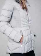 Bernardo - Quilted Packable Coat, Grey