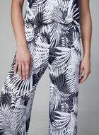 Pyjama 2 pièces à imprimé tropical, Noir, hi-res