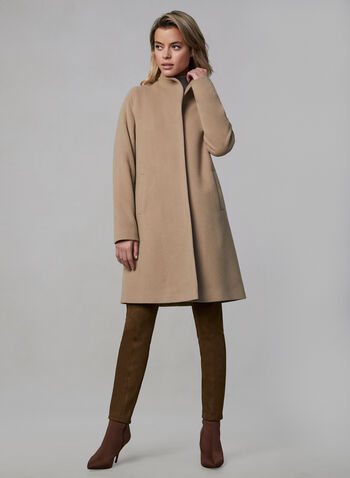 Mallia - Wool Blend Coat, Brown, hi-res,  Mallia, coat, wool, cashmere, fall 2019, winter 2019