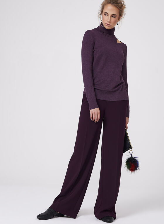 Elena Wang - Turtleneck Sweater , Purple, hi-res