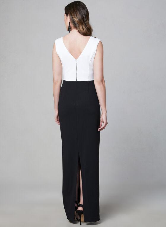 Karl Lagerfeld Paris - Robe à détails perlés à la taille, Noir, hi-res