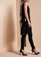 Patrizia Luca Elongated Sheer Vest, Black, hi-res