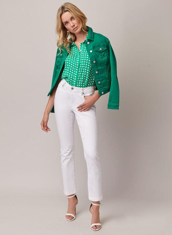 Stretchy Denim Jacket, Green