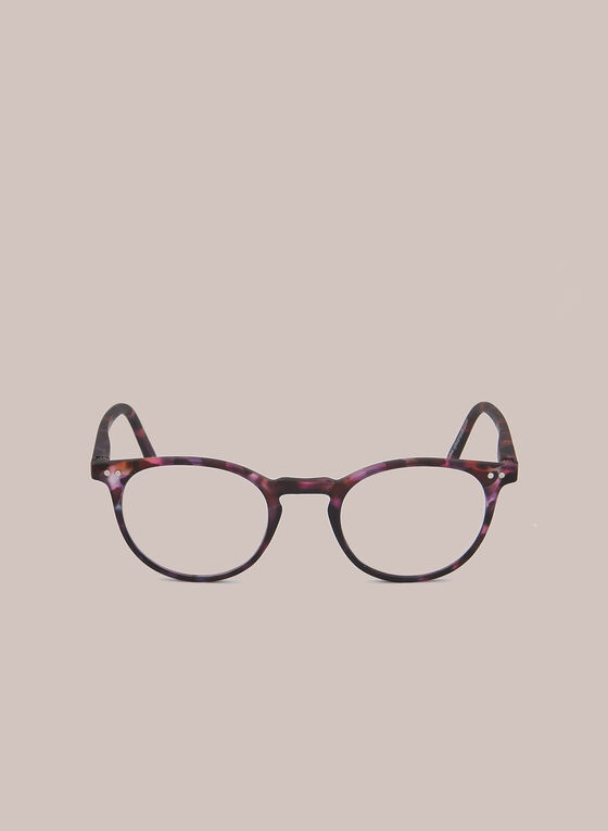 Marbled Clubmaster Reading Glasses, Purple
