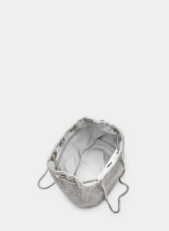 Bourse à détails cristaux, Argent