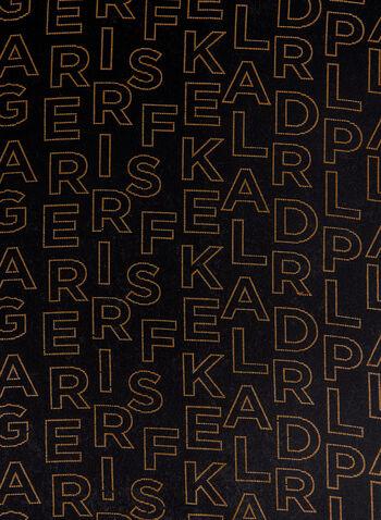 Karl Lagerfeld Paris - Alphabet Print Scarf, Black, hi-res
