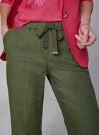 Pantalon gaucho en mélange de lin, Vert