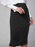 Crocodile Print Skirt, Black, hi-res