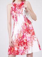 Maggy London - Robe fleurie ajustée et évasée, Orange, hi-res