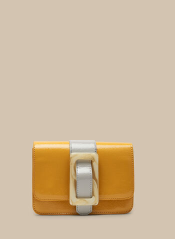 Two-Toned Rectangle Clutch , Gold,  bag, clutch, flap clutch, two-toned, lucite, spring 2020, summer 2020