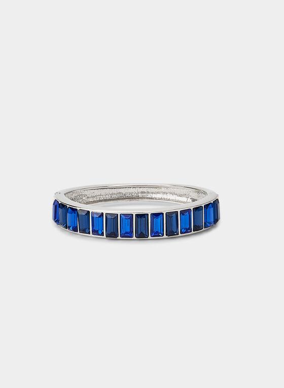 Hinge Bangle Bracelet , Blue