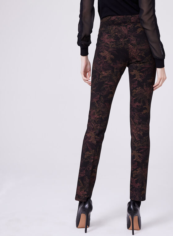 Insight - Pull-On Straight Leg Leaf Print Pants, Red, hi-res