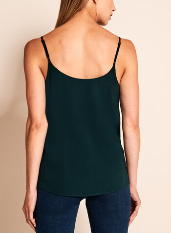 Double Layer Crepe Tank Top, Green, hi-res