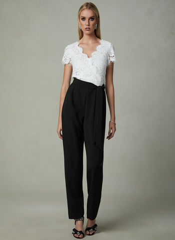 Cenia New York - Lace Bodice Jumpsuit, Black, hi-res