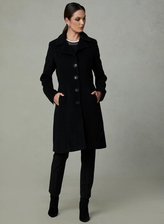 Anne Klein - Manteau en cachemire mélangé  , Noir, hi-res