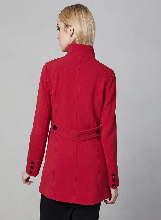 Nuage - Manteau à col montant, Rouge, hi-res