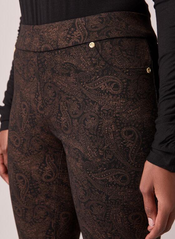 Paisley Print Kayla Pants, Black