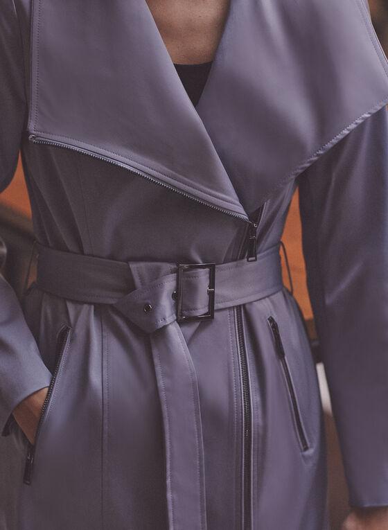BCBGeneration - Trench à zip et ceinture, Bleu