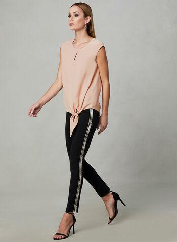 Tie Front Blouse, Pink, hi-res