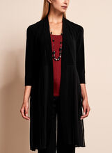 Linea Domani - Pleated Long Sleeve Duster, Black, hi-res
