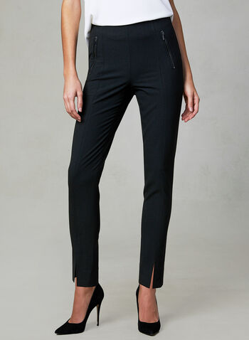 Amber Fit Slim Leg Pants, Black, hi-res