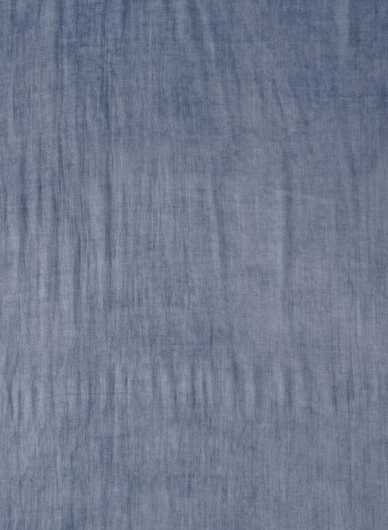 Denim Effect Scarf, Blue, hi-res