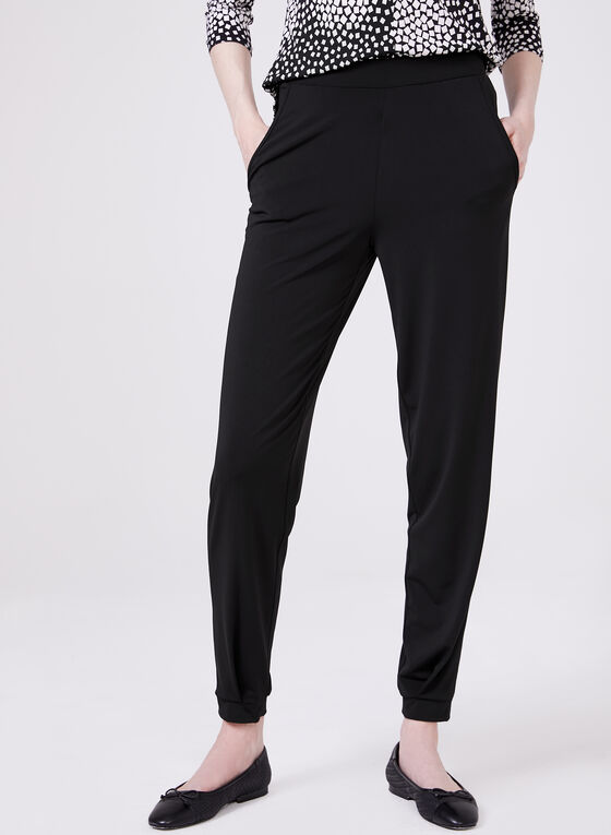 Compli K - Pantalon pull-on style jogging, Noir, hi-res