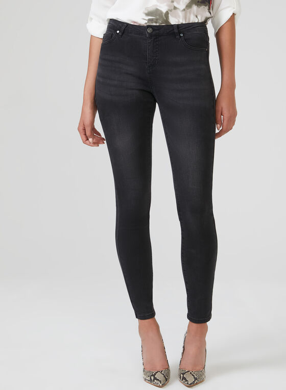 Super Soft Slim Leg Jeans , Grey, hi-res