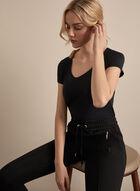 Basic Scoop Neck T-Shirt, Black